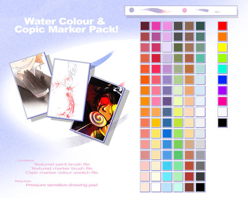 Water Colour Copic Brushes