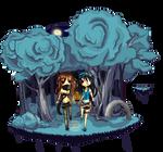 Mio and Azumi Commission by AkiranoUta