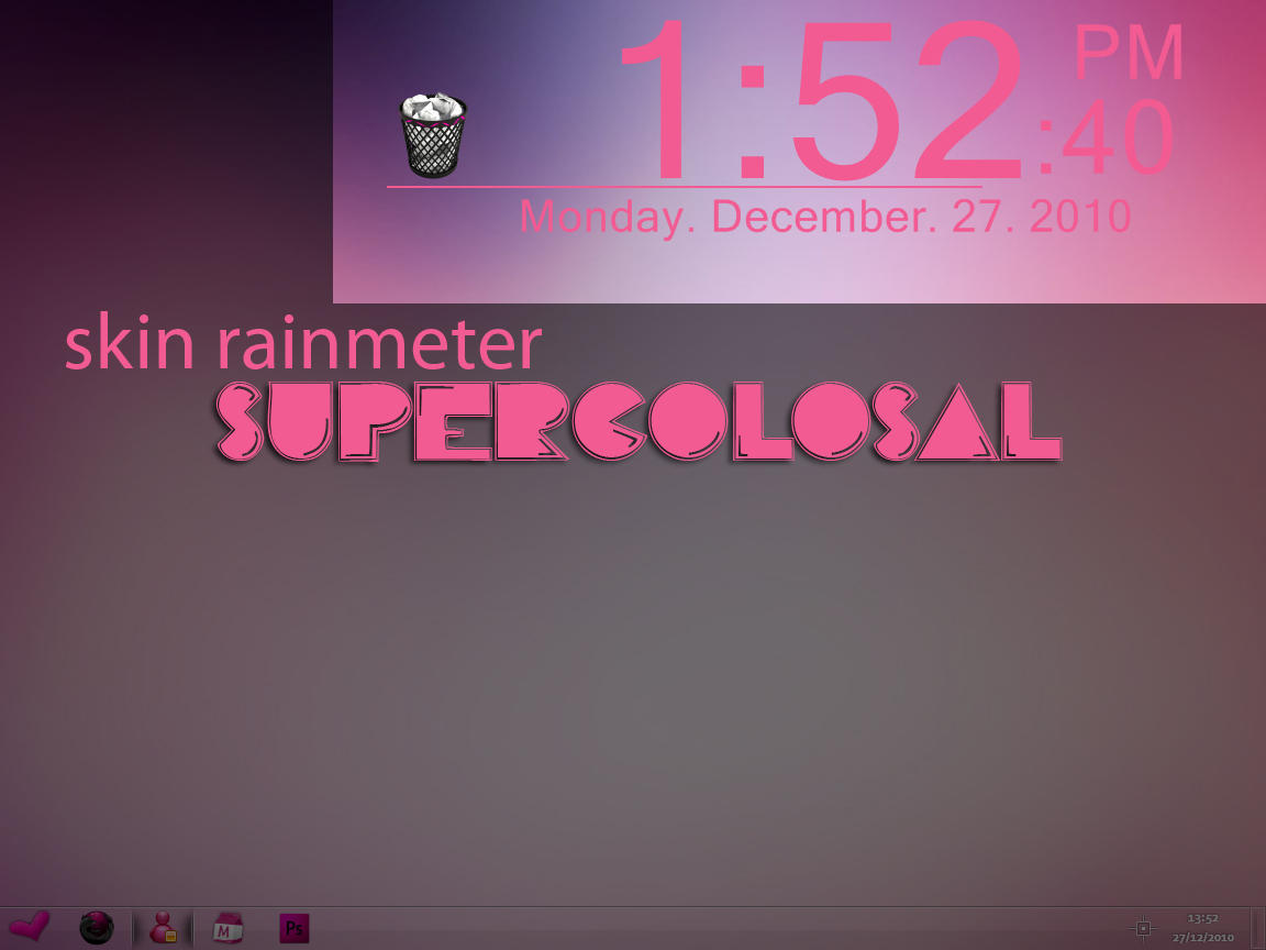 Skin SUPERCOLOSAL rainmeter by jessy-izan