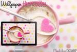 WALLPAPER HEART COFFEE