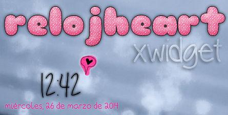 RelojHeart for XWIDGET