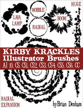 Kirby Krackles brush set -UPDATED from AI10 to CS6
