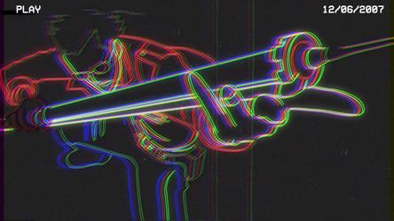 Travis Touchdown VHS animation by HelloimKiki