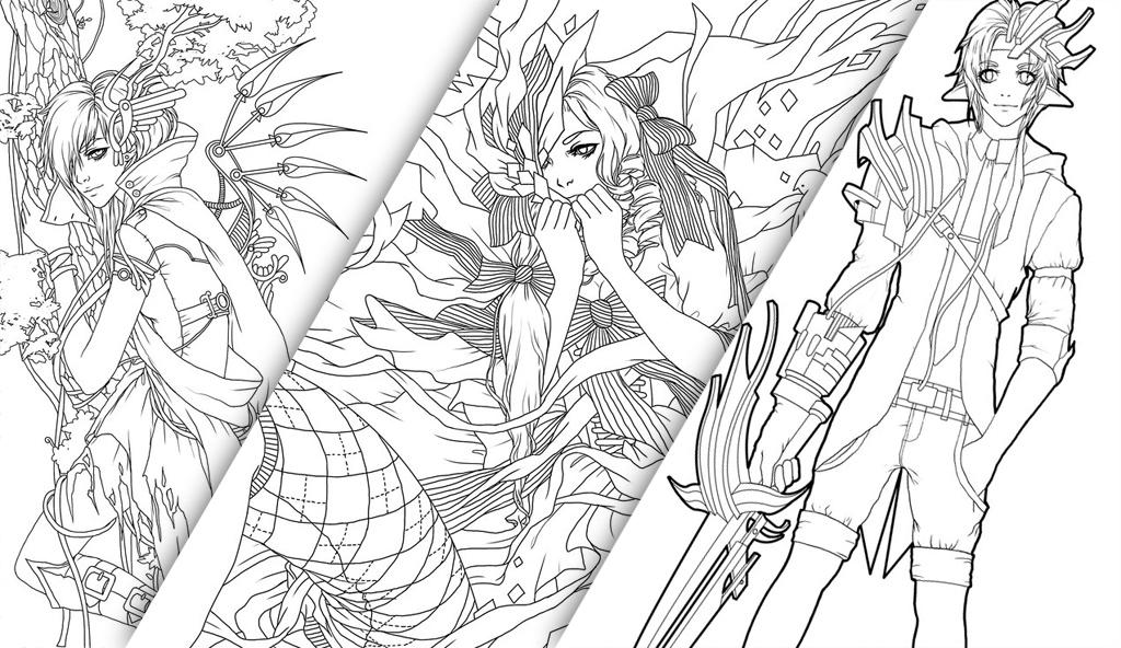 Linearts...PSD files by tincek-marincek