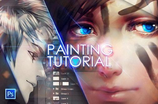 +Painting anime hair...tutorial+