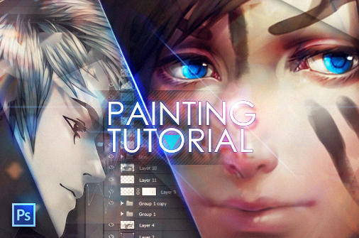 +Painting anime hair...tutorial+