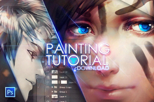 +Painting anime hair...download+