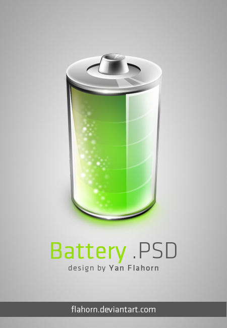 Battery .PSD by evasketch
