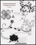 flowers brushset