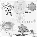 5 Retroflowers brushset