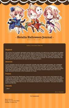 Hetalia Halloween Journal Skin