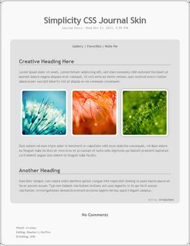 Simplicity Journal Skin CSS