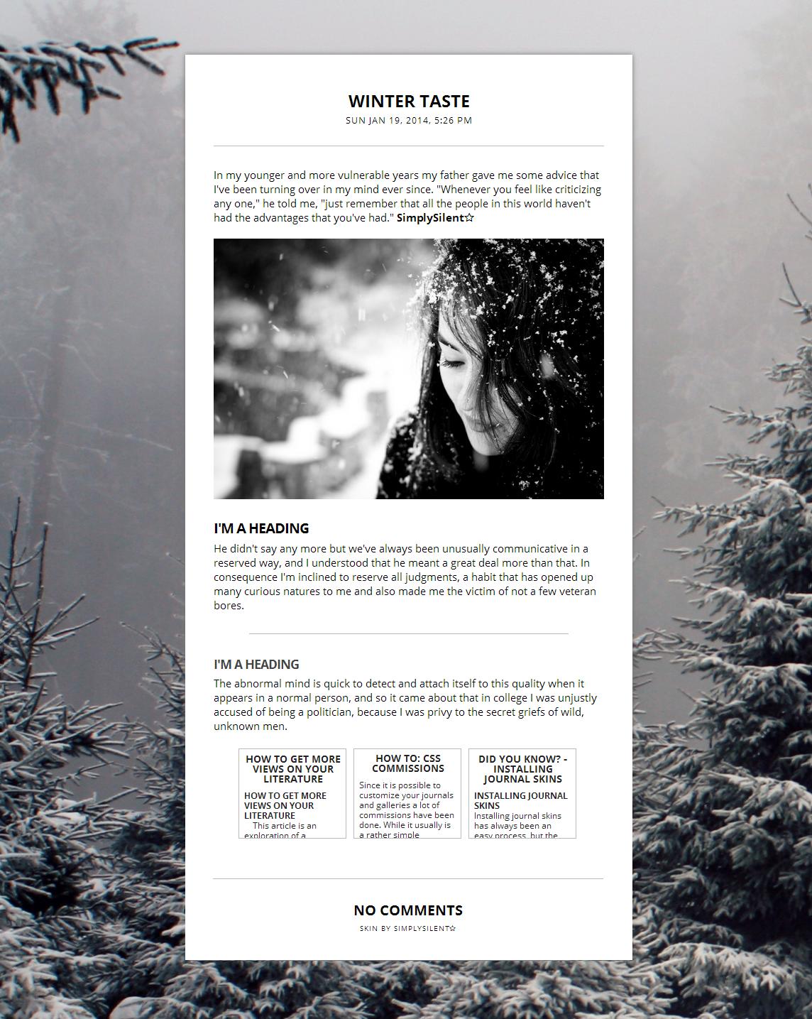 Winter Taste Skin by SimplySilent
