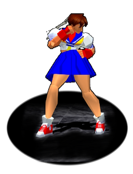 Sakura Stance Trophy SFEX - Animated GIF