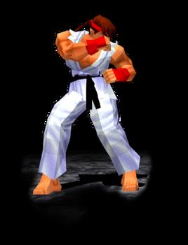 Ryu Stance Trophy SFEX - Animated GIF