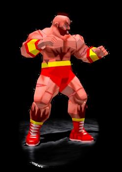 Zangief Stance Trophy SFEX - Animated GIF