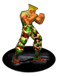 Guile Stance Trophy SFEX - Animated GIF