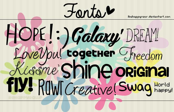 Fonts BHR by iBeHappyRawr