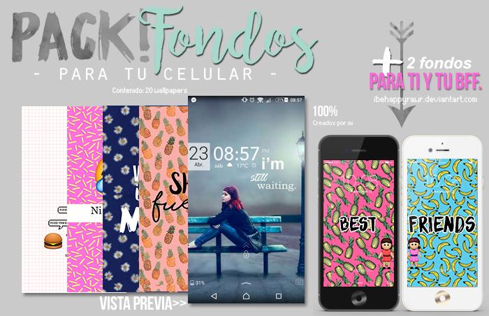 Pack de fondos para tu celular BHR by iBeHappyRawr