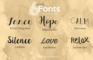 Pack fonts by iBeHappyRawr