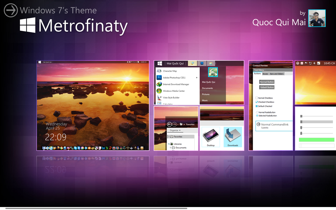 Metrofinaty for Windows 7 by KennyPun95