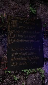 UV Poem: Riddle of Strider in Elvish