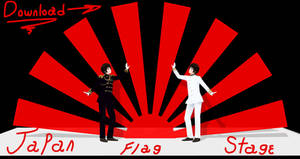 MMD - Japan's Flag Stage DL by ShiaHayama