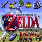 Ocarina of Time Icon Pack by KlydeStorm