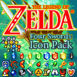 Four Swords Icon Pack by KlydeStorm