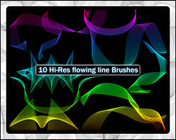 Hi-res Flowing Line Brushes by JPeiro