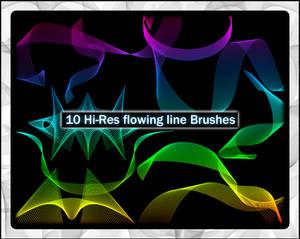 Hi-res Flowing Line Brushes