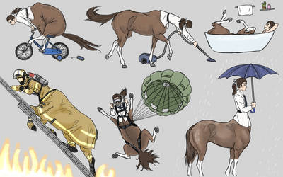 Have you ever seen a skydiving centaur?