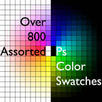 800 Assorted Color Swatches