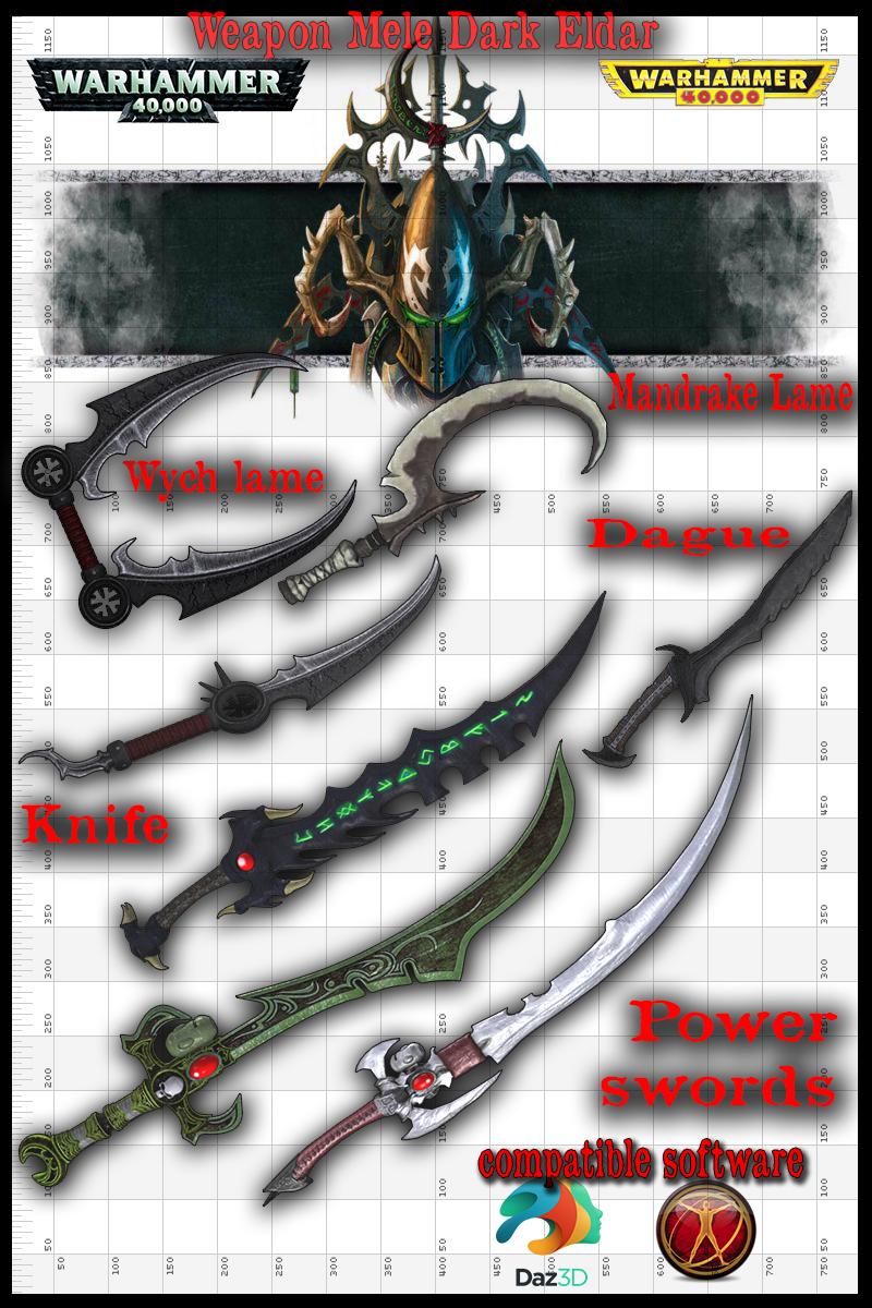 runtime Weapon Mele Dark eldar by jibicoco