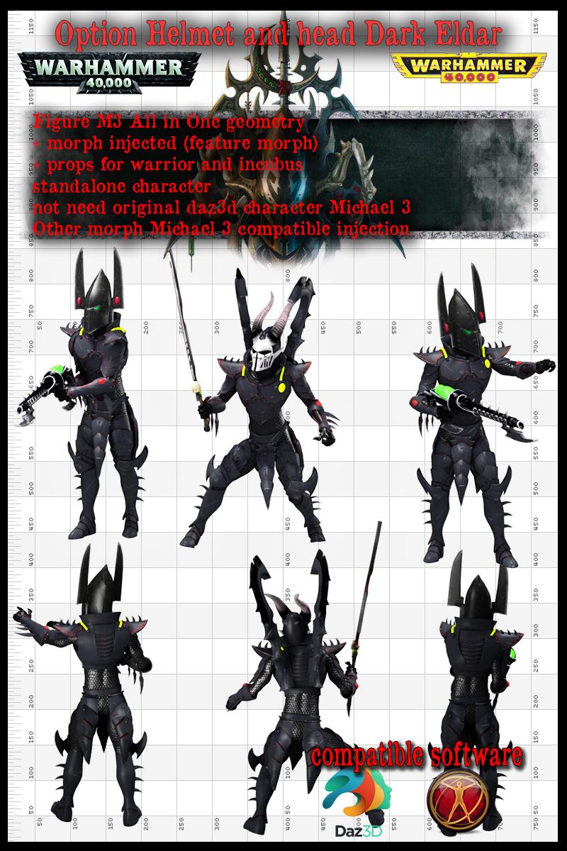 dark eldar warrior for M3 bonus cloth for incubus by jibicoco