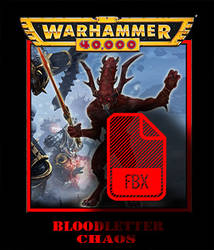 daemon Bloodletter warhammer FBX format by jibicoco
