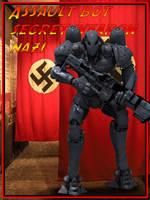 german Combat Bot dieselpunk daz3d poser by jibicoco