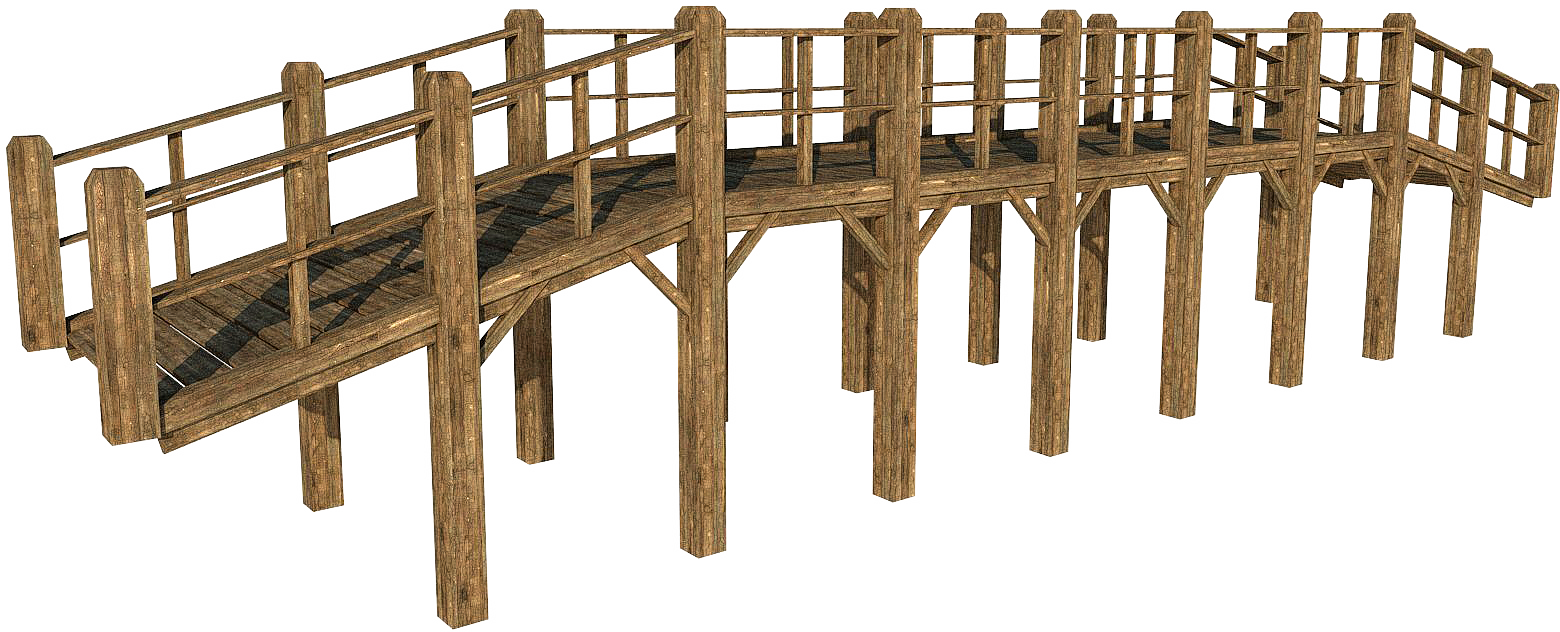 Wooden barrels 1 png by fumar porros on deviantart -  Wooden Bridge Pack By Fumar Porros
