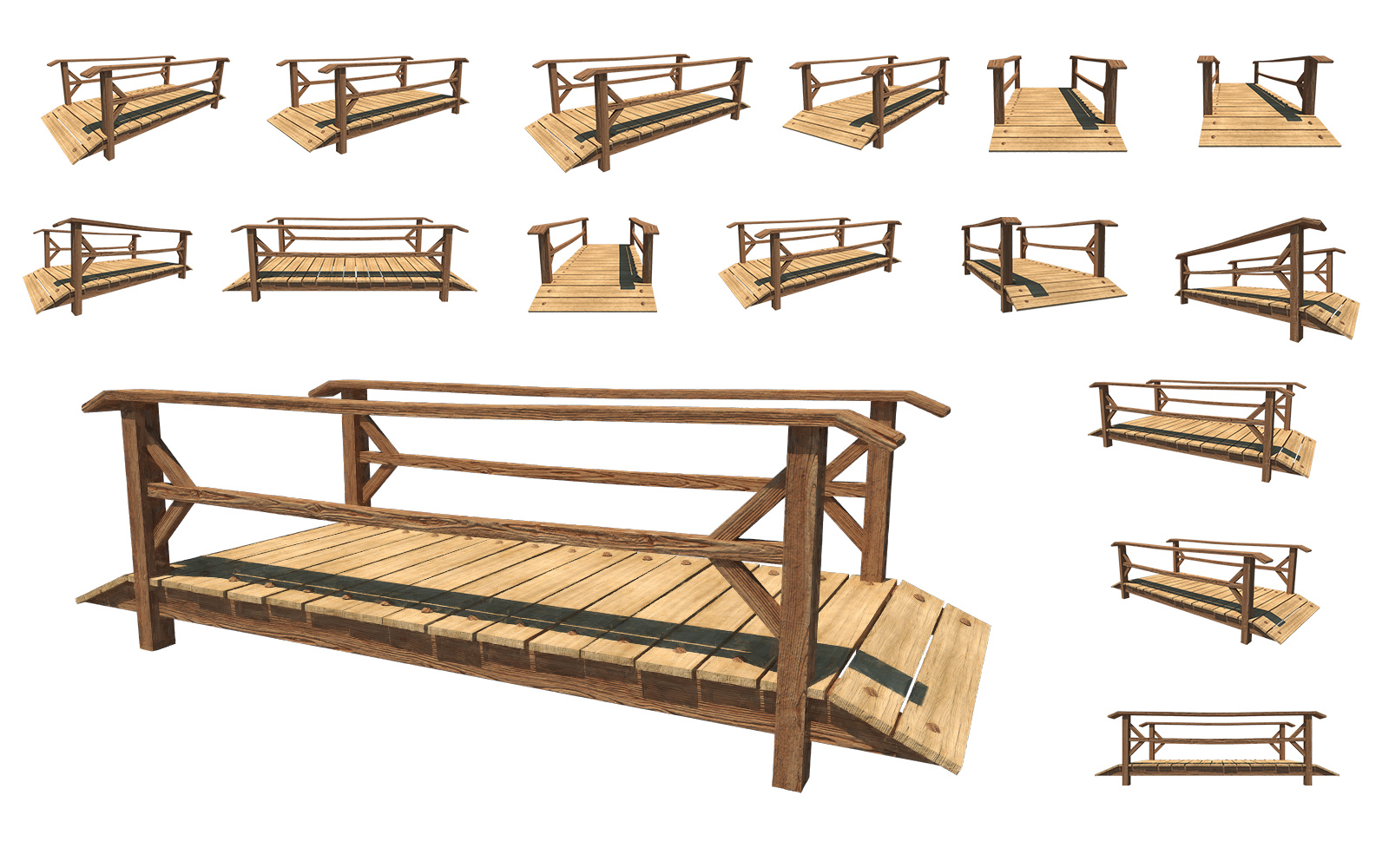 ... Small Wooden Bridge, PNG Pack by fumar-porros
