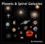 Planets and Spiral Galaxies