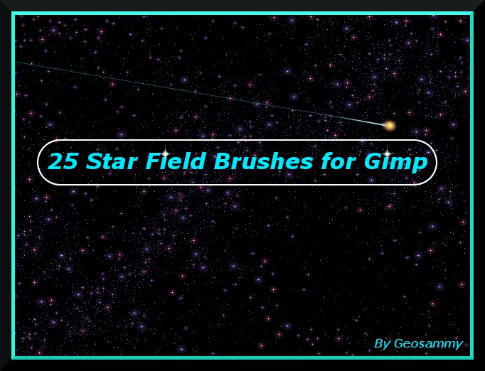 25 Star Field Brushes for Gimp