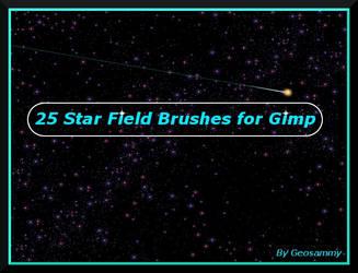 25 Star Field Brushes for Gimp by Geosammy