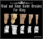 Wood and Stone Corbel Brushes