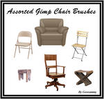 Gimp Assorted Chair Brushes