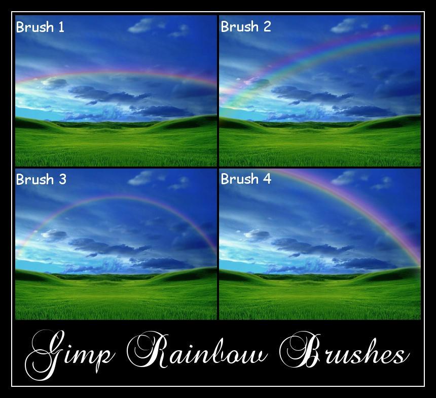 Gimp Rainbow Brushes by Geosammy