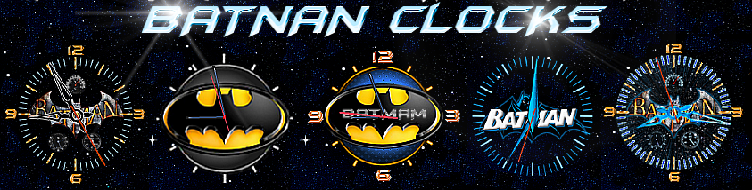 Batman Clocks by Geosammy