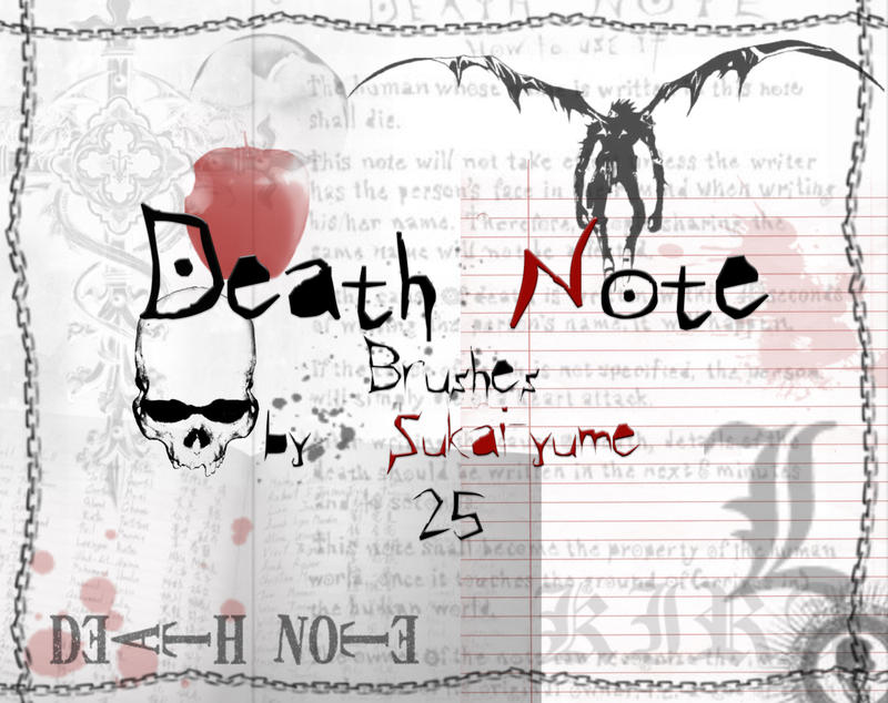 25 brushes death note 25_Death_Note_brushes_by_Sukai_yume