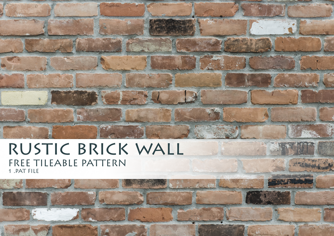 Rustic Brick Wall Decor : Rustic brick wall pattern by byallex on deviantart