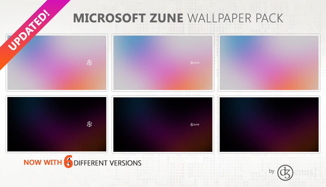 Microsoft Zune Wallpaper Pack by srjames