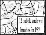 Bubble and swirl brushes
